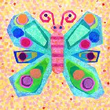 Jewel Butterfly Canvas Wall Art