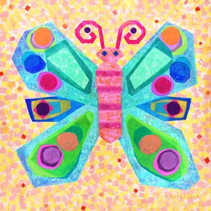 Jewel Butterfly Canvas Wall Art - Wall Sticker Outlet