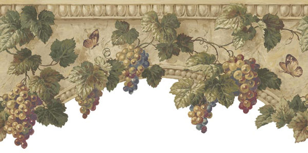 Grape Wallpaper Border Grape architectural border