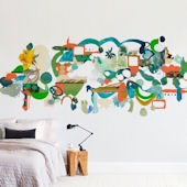 Minted Green Hills Repositionable Wall Mural