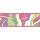 Groovy Wave Border Pink