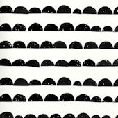 Ferm Living Half Moon Black and White Wallpaper