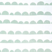 Ferm Living Half Moon Mint and White Wallpaper