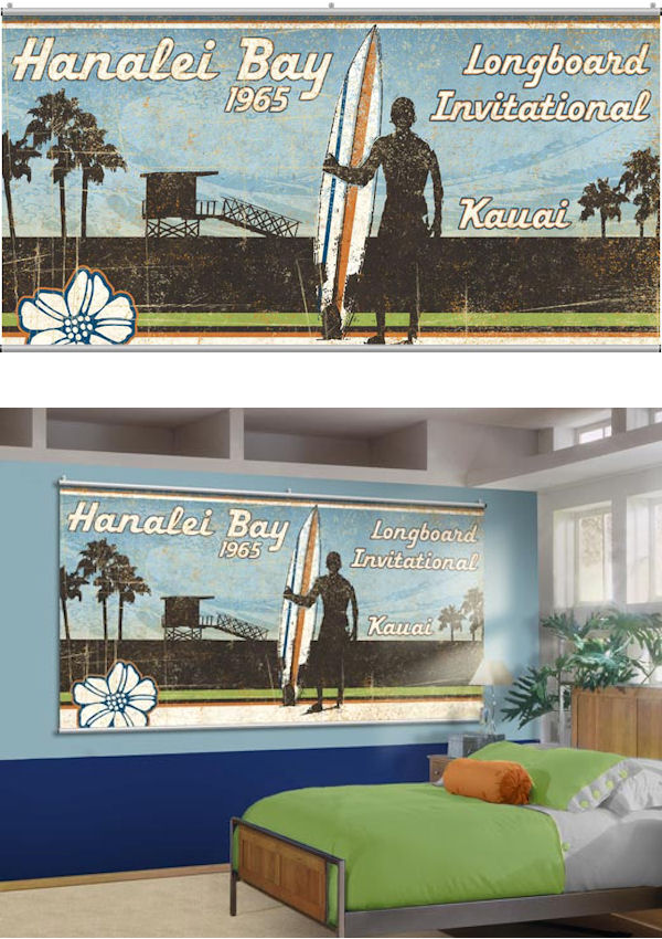 Hanalei Bay Wall Minute Mural - Wall Sticker Outlet