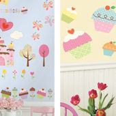Happi Cupcake Decal Room Package