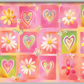 Hearts and Flowers Minute Mural
