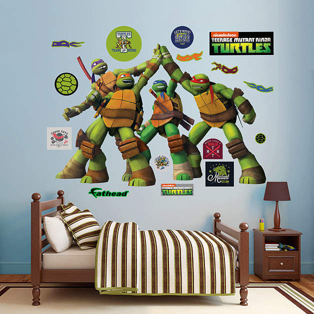 Fathead TMNT High Five Wall Decals - Wall Sticker Outlet