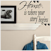 Home is Where Your Story Begins Wall Decal
