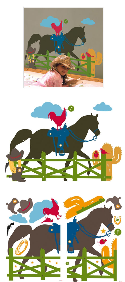 Home on the Range Giant  Wall Stickers - Wall Sticker Outlet