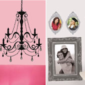 Chandelier and Frames Home Room Package #1