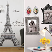 Eiffel Tower and Frames Home Room Package #2