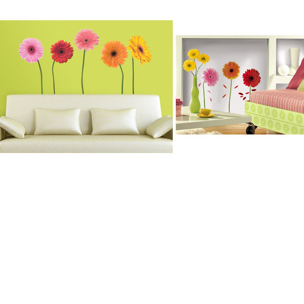 Gerber Daisies Home Room Package #3 - Wall Sticker Outlet