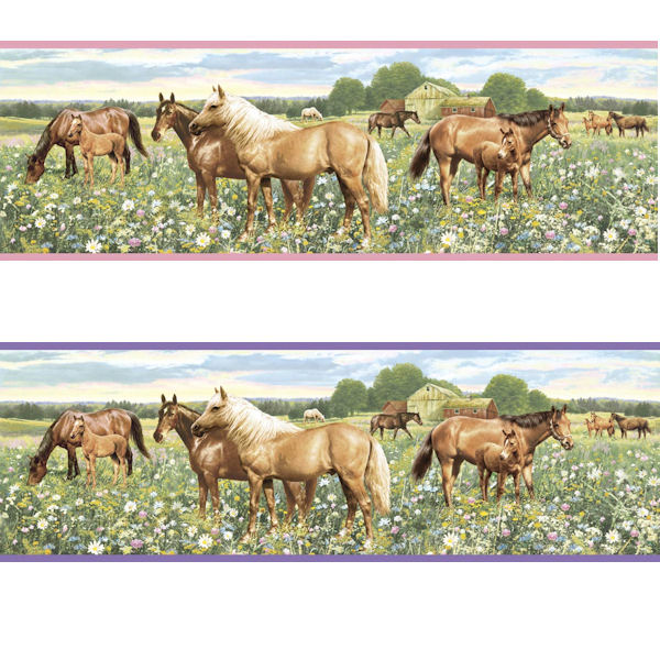 Horses Border In 2 Colors