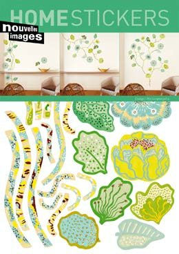 Nouvelles Images Fleurs Vertes Wall Decals - Wall Sticker Outlet