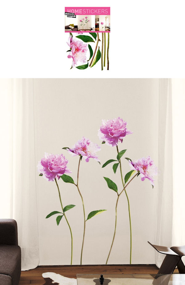 Nouvelles Images Peony Wall Decals - Wall Sticker Outlet