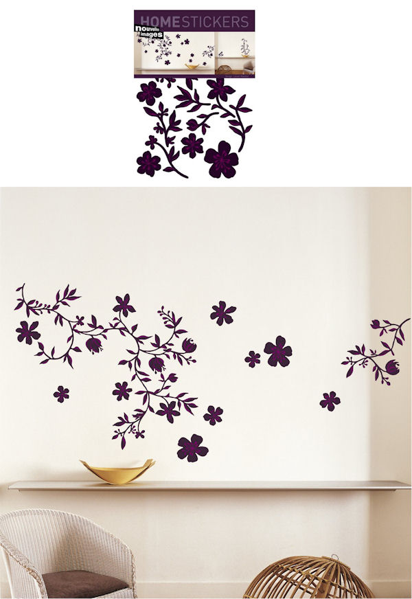 Nouvelles Images Guirlande Prune Wall Decals - Wall Sticker Outlet