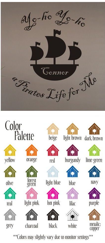A Pirates Life For Me Vinyl Wall Sticker - Wall Sticker Outlet