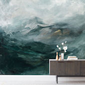 Minted Ice Canyon Repositionable Wall Mural