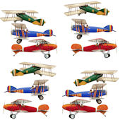 12 Airplane Peel and Stick 10 Inch Decals
