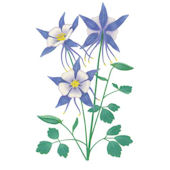 Columbine Flower Wall Decal