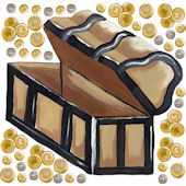 Sherri Blum Large Pirate Chest and Coin Decal SALE