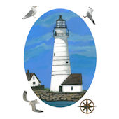 Boston Lighthouse Peel and Stick Decal