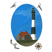 Fire Island Lighthouse Peel and Stick Decal
