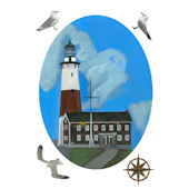 Montauk Point Lighthouse Peel and Stick Decal