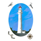Split Point Lighthouse Peel and Stick Decal