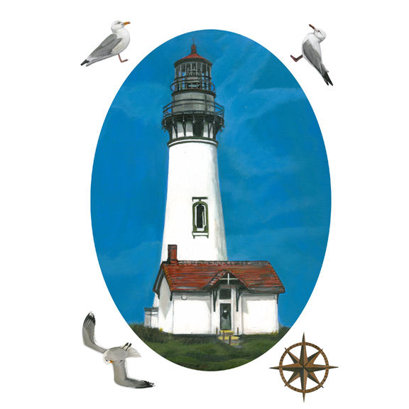 Yaquina Head Lighthouse Peel And Stick Decal