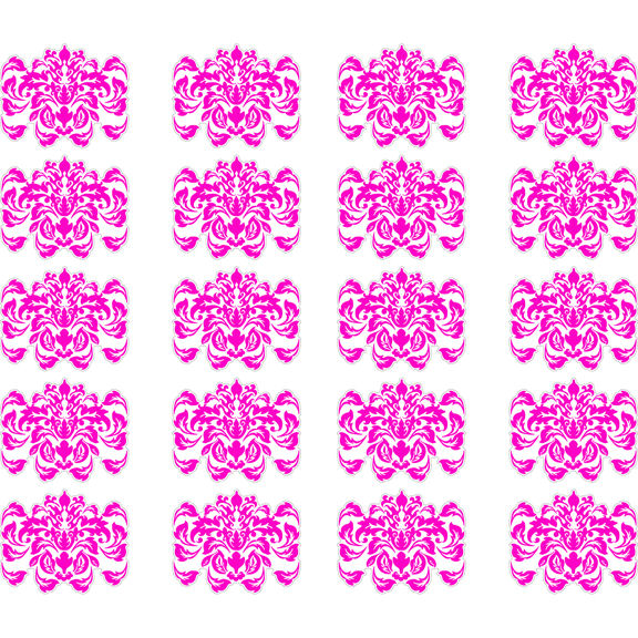 Pink Damask Peel And Stick Decals