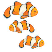 Clown Fish Set 3 Underwater Decals