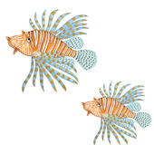 Lion Fish Underwater Decals