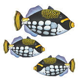 Blue and Black Fish Underwater Decals
