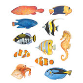 Fish Single Sheet Peel and Stick Wall Decals
