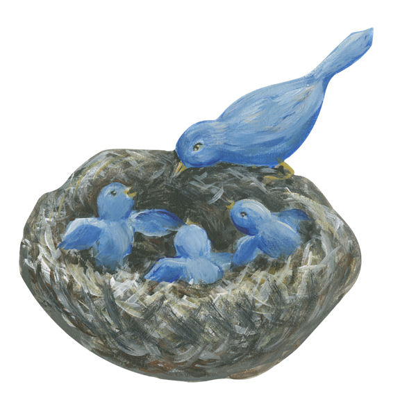 Bluebirds Wall Decals - Wall Sticker Outlet