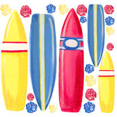 Surfboards Wall Decals