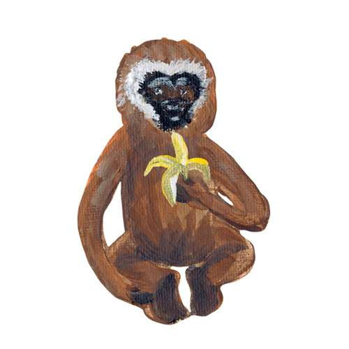 Monkey With Banana Wall Decals