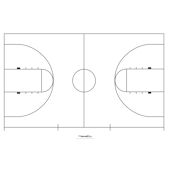 Sports wall stickers decals sports team wall murals for Basketball court wall mural