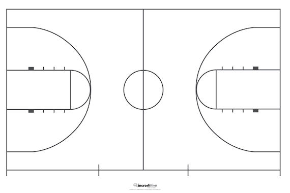 Incrediwall basketball court mural sticker for How to build a half court basketball court