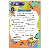 Dinosaurs Mad Lib Dry Erase Wall Sticker