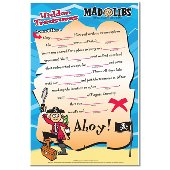 Pirates Mad Lib Dry Erase Wall Sticker