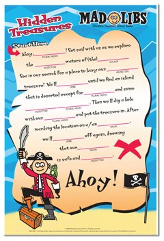 Pirates Mad Lib Dry Erase Wall Sticker - Kids Wall Decor Store