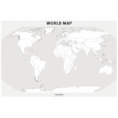 Incrediwall World Map Mural Sticker