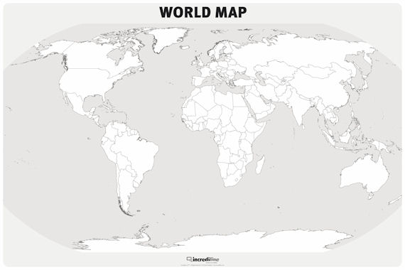 Incrediwall world map mural sticker for Dry erase world map wall mural