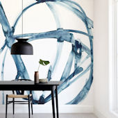Minted Indigo Plant Cell Repositionable Wall Mural