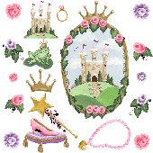 Castle Window Accessory Sherri Blum Wall Stickers