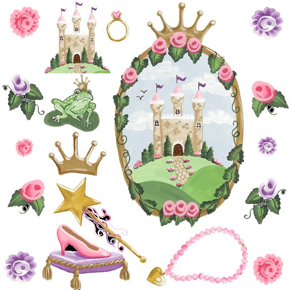 Castle Window Accessorie Sherri Blum Wall Stickers - Kids Wall Decor Store