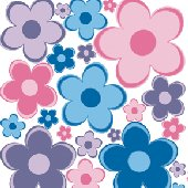 Flower Power Peel and Stick Wall Stickers