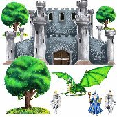 Medival Castle Fairytale Large Wall Stickers